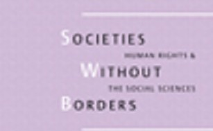 "Image is of a book cover. There is text on the cover that reads, ""Societies Without Borders."""