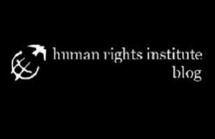 "Image is of the Uconn Human Rights symbol and text reading ""human rights institute blog"""
