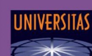 "Image is of the Universitas 21 logo. Image has the word ""UNIVERSITAS"" at the top of picture and the top of a sphere at the bottom"