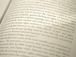 image is a close up of a page of a book on human rights