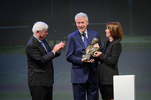 Image is of Presentation of the Dodd Prize in Human Rights to President Bill Clinton