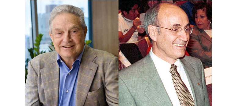 Photo of Gary Gladstein and George Soros