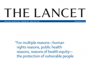 "Image is a website banner which reads, ""The Lancet"""