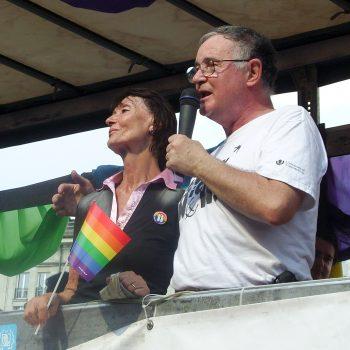 Ewa Woydyłło and Wiktor Osiatyński at Euro Pride Warsaw 2010