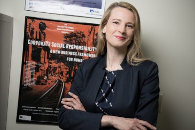 Caroline Kaeb, Assistant Professor of Business Law and Human Rights at the UConn School of Business